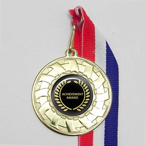 Single, personalisierbar Achievement Award Gold Medal mit Band (Medal Award Achievement)