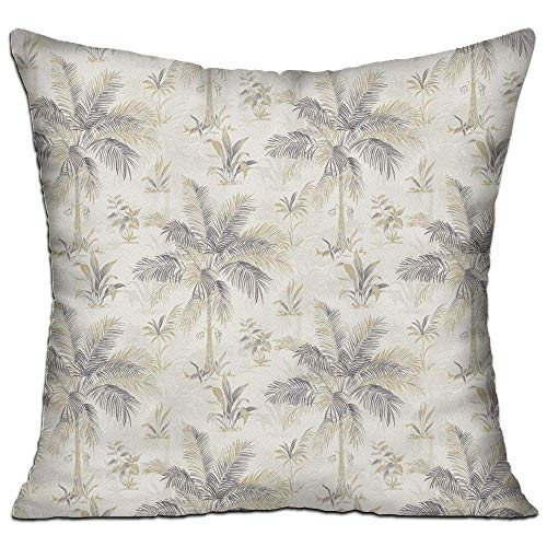 fdgjfghjdfj Hawaii Palm Tree,Pillow Covers Decorative Pillowcase Cushion Covers with Zipper 18x18 Inches