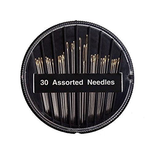 30 Handnähnadeln/Nähnadelset mit Goldöhr 30 mm - 50 mm lang