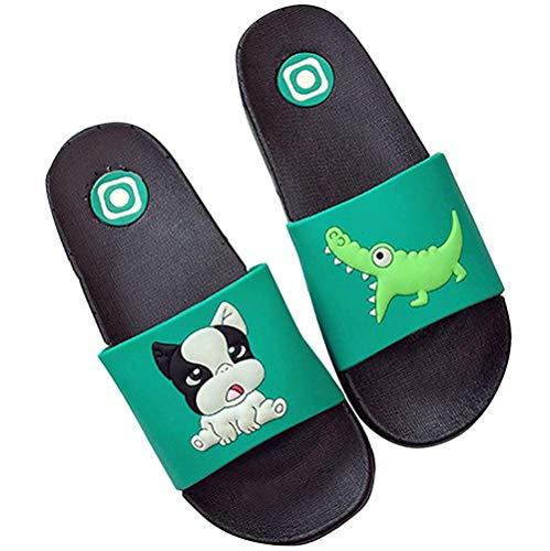 Girls Boys Cute Animal Non Slip Slippers Mule Slip on Summer Sandals Womens Beach & Pool Shoes Men Flip Flops Flats for Family Size