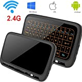Kabellose Tastatur, Topselerstore H18 + 2.4GHz Full Touchpad Hintergrundbeleuchtung Mini-Tastatur mit großen Touchpad Fernbedienung für Smart TV Android TV Box PC Laptop …