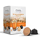 MUST ESPRESSO ITALIANO Eistee Pfirsich Tee 96 Dolce Gusto Kompatible Kapseln, 6er Pack (6 x 192 g)
