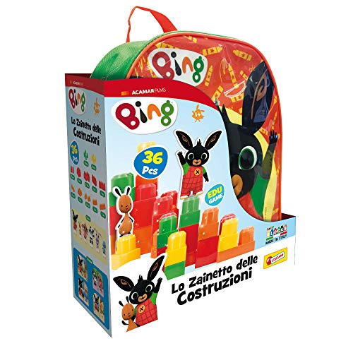 Lisciani Giochi- Gioco per Bambini Bing Zainetto, Costruzioni Baby, Colore Verde, 76864