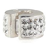 Clip Stopper Charm 925Sterling Silber Charm Kristall Spacer Charm lock Charm für Pandora-Charms Armband