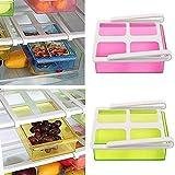 #10: ShopAIS Plastic Multi Purpose Fridge Storage Racks Tray Pack of 4 (Multi-Color)