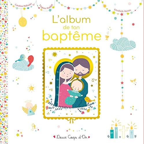 L'album de mon baptême - livre avec icône sur bois par Caroline Pellissier