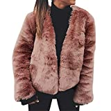 Damen Pelzmantel Faux Für Strickjacke Lose Langarm Outwear Mode Kurz Mantel Winter Warm Plüschjacke Casual Wintermantel übergangsjacke Steppjacke Einfarbig Sexy Parka von Innerternet