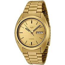Seiko Hombre snxl72Seiko 5Automático Reloj Dial de Oro de acero inoxidable reloj
