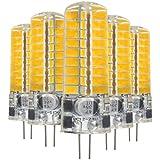 EKINHUI LED Cool blanco blanco cálido LED Bi-Pin luces G4 5W 72LED 5730 SMD 400-500 Lm AC / DC 12-24 V (5 PCS) ( Color : Cool White )