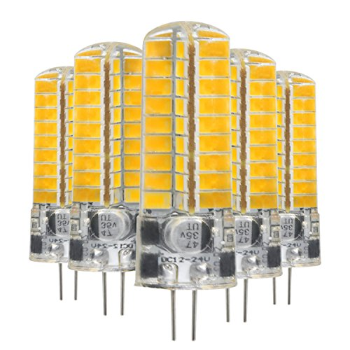 G4 LED Silikonlampe 5730 SMD 72LED LED Energiesparlampe 5W (50W Halogen-Äquivalent) LED-Lampen geeignet für Beleuchtung für Zuhause AC / DC 12 V (5 Pack) Einfach zu verwenden ( Größe : Warmweiß ) - Dc Bajonett-halogen-glühlampe