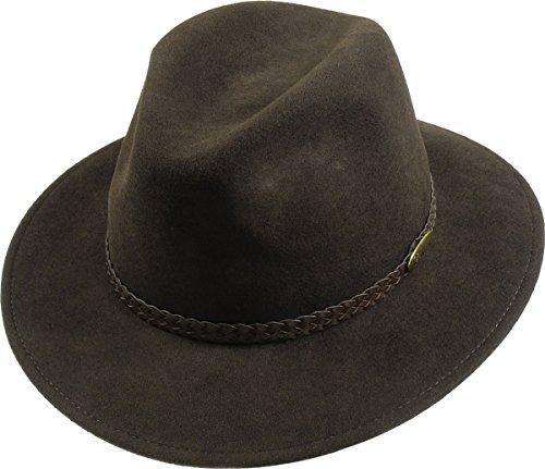 rollbarer Hut in 3 Farben, Kopfgroesse: 59, Braun (Hut Herren Breite Krempe Wolle)