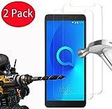 FoneExpert® 2 Pack - Alcatel 3C Verre Trempé, Vitre Protection Film de protecteur d'écran Glass Film Tempered Glass Screen Protector Pour Alcatel 3C