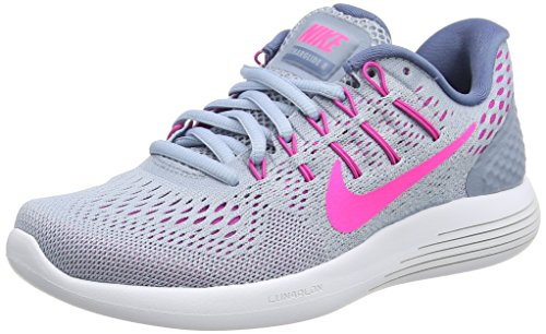 Nike Lunarglide 8, Scarpe Running Donna Nero (Blue Grey/Pink Blast/Blue Tint/Ocean Fog)