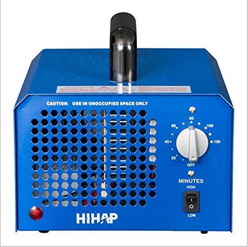 Profi Ozongenerator 3000 bis 7000mg/h- 3,5bis7g/h einstellbar Timer Ozon Generator perfekt Luftreiniger für Ihr Auto,Kücke Desinfektion, Formaldehyd Reduzierung und geruchtilgend in Badezimmer usw. (Blau)