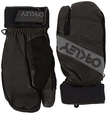 Oakley Factory Pair of Men's Winter Trigger Jet Gloves, Mens, Factory Winter Trigger Mitt 2, jet black