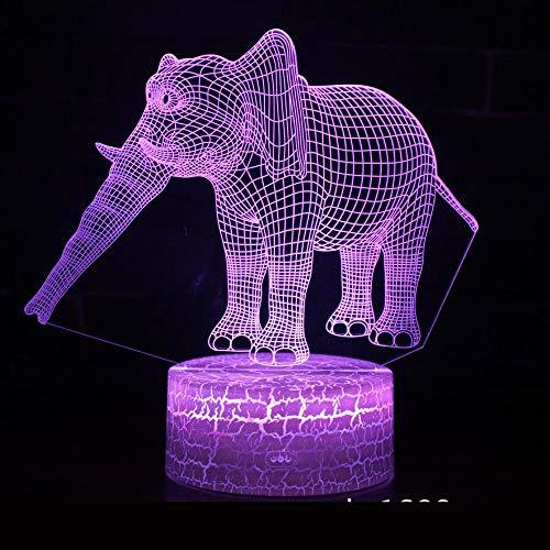 Serie Elefante Lámpara De Noche 3D Atmósfera Led Linterna Regalo Creativo Visual Colorido Accesorios De Iluminación 3D Novedad Luz Led De Noche Dibujos Animados Para Niños Juguetes Xc