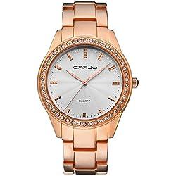 OUMOSI Women Crystal Business Quartz Watch Luxury Rhinestones Wrist Watches