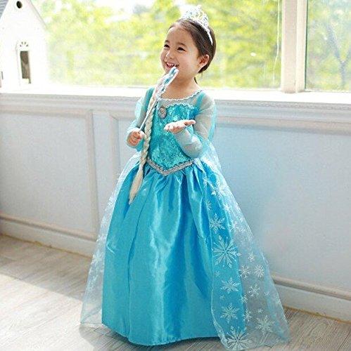 Mädchen Eiskönigin Schneeprinzessin Kostüm Prinzessin Kostüm Kinder Kleid Mädchen