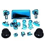 L1 L2 R1 R2 Dpad Tasten Joystick Platating Full Set Tasten für PS4 Pro Slim Controller DualShock 4 Pro JDS-040 (chromblau)