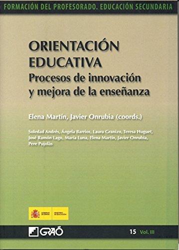 Orientacion educativa. Procesos de innovacion y mejora de la ensenanza epub