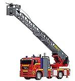 Dickie Toys 203715001 - City Fire Engine, Feuerwehrauto mit manueller Wasserspritze, 31 cm -