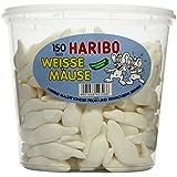 Haribo Weisse Mäuse, Dose, 150 Stück, 1050g
