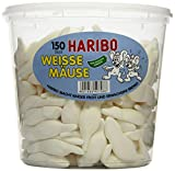 Haribo Weisse Mäuse, 1er Pack (1 x 1.05 kg Dose)