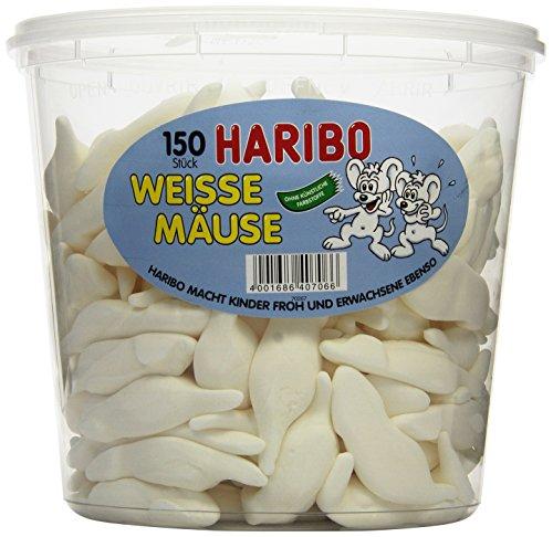 Haribo Weisse Mäuse, 1er Pack (1 x 1.05 kg - Speck Kinder Kostüm