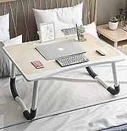 طاولة قابلة للطي مريحة متعددة الاستخدام تعمل كطاولة سرير مع رف للقراءة ورف لغرفة النوم وطاولة سرير واسعة، وطاو