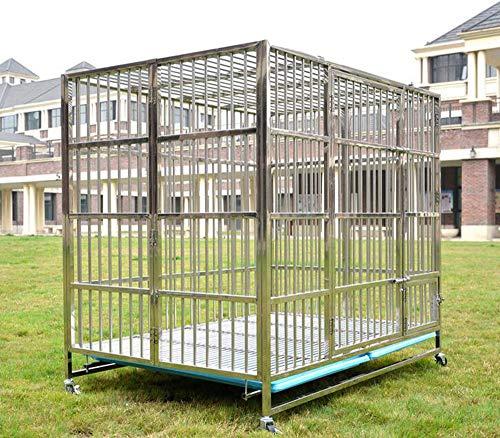 BTHDPP Metall Mittelgroßer Und Großer Hundehaustierkäfig Mit Schiebedach/Toilettenablage Für Den Innen- Und Außenbereich Hundekäfig,82 * 52 * 60cm