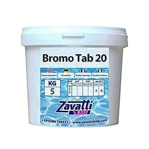 Brome en tablettes pour piscine - 5 Kg
