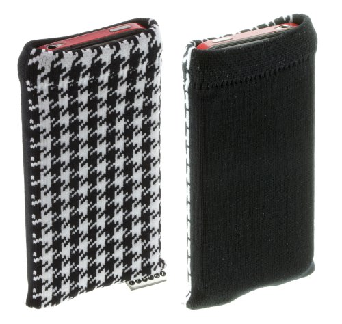 Trendz Universal Smartphone Handysocke -schwarz/weiß Houndstooth Design