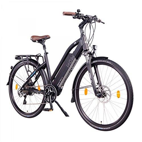 "NCM Milano Plus E-Bike Trekking Rad, 250W, 48V 14 Ah/16Ah • 672Wh/768Wh Akku, 26\""/28\"" Zoll (Schwarz Plus 28\"")"