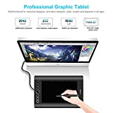 "Huion Drawing Graphics Tablet 10""x6.25"" USB Digital Creative Pen Tablet Writing Design Tablet Board with Hot Express Keys for Windows & Mac - H610 PRO Black"