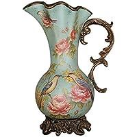 Unbekannt TIAMO Home Store Retro Luxus Boden Vase Home Dekorationen  Wohnzimmer Ornamente Handmade Resin Große Vase