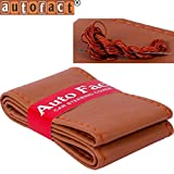 #5: Autofact PU Leatherite Stitchable Steering Wheel Cover for Honda City Zx (Tan Color)