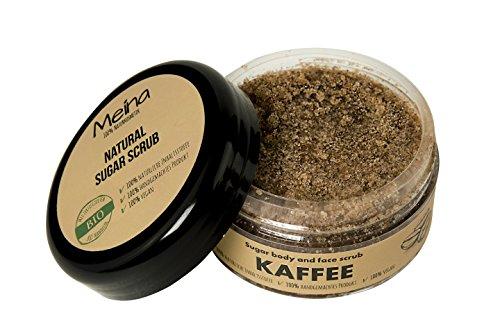 Meina Naturkosmetik - Körperpeeling mit Kaffee - Bio Gesichtspeeling und Lippenpeeling für Damen und Herren (1 x 280 g) Face, Lip, Body Scrub Peeling