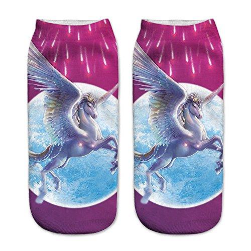 Sneaker-Socken - Unicorn Einhorn - 011 Pegasus
