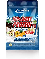 IronMaxx 100% Whey Protein / Wasserlösliches Proteinpulver / Eiweißpulver mit Dark Ecuador Chocolate Geschmack / 1 x 900 g Beutel