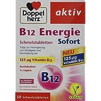 Doppelherz B12 Energie Sofort Schmelztabletten | Nahrungsergänzungsmittel bei erhöhtem Bedarf | Vitamin B12 zur Verringerung von Müdigkeit und Erschöpfung | 1 x 30 Schmelztabletten