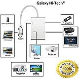 Galaxy Hi-Tech Type C To HDMI Interface, USB C To HDMI DVI VGA With USB 3.0 HUB