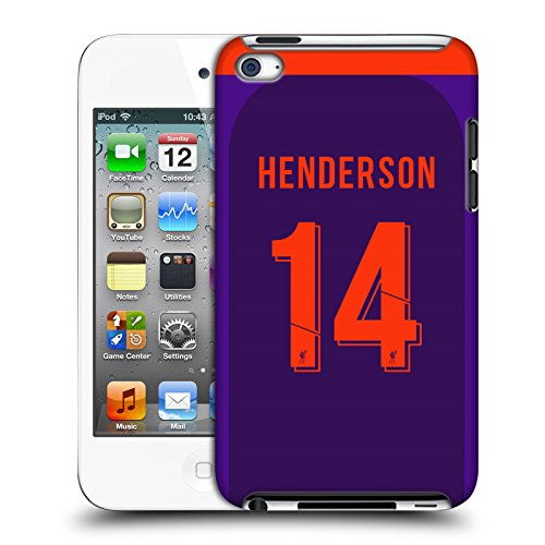 Offizielle Liverpool Football Club Jordan Henderson 2018/19 Spieler Away Kit Gruppe 1 Harte Rueckseiten Huelle kompatibel mit Apple iPod Touch 4G 4th Gen
