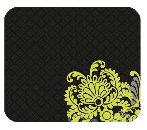 vera-bradley-flower-print-muster-schwarz-mauspad-rechteckig
