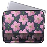 Laptop sleeve 43,2 cm, Romantische Rosa Geranien Blumen auf jeder Farbe Computer Sleeve Notebook/MacBook Pro/MacBook Air Laptop