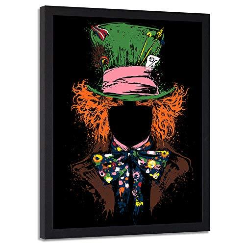 (carowall CAROWALL.COM Bild mit Rahmen XXL schwarz Popkultur Dekoration Mehrfarbig 70x100 cm)
