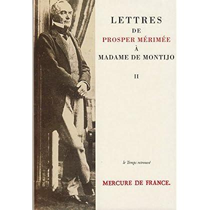 Lettres de Prosper Mérimée à Madame de Montijo