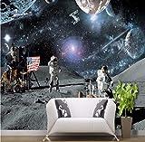 Rureng Carta Da Parati 3D Personalizzato Soggiorno Camera Da Letto Luna Lunare Calendario Lunare Rover Galassia Scienza Aerospaziale Sfondo Carta Da Parati-280X200Cm