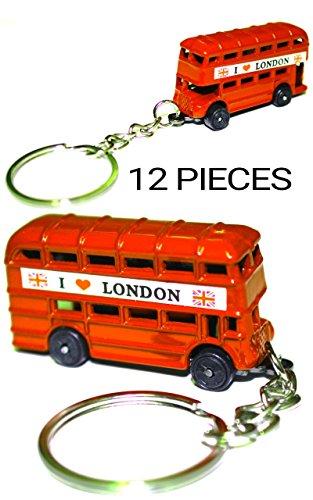 12 llaveros Red London Bus Inglaterra Reino Unido