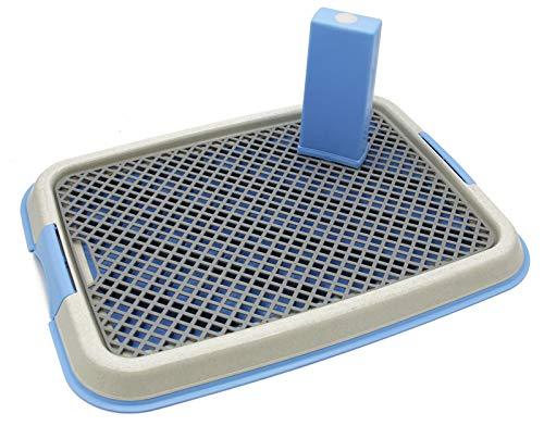 BPS Plateau Sanitaire de Dressage Toilettes Intérieur pour Chiens Toilette Animaux Plastique 2Tailles M/L Couleur au Hasard