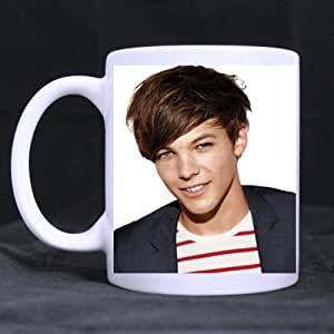 Custom One Direction Beliebten UK Kaffeebecher Motiv: Louis Tomlinson, Weiß